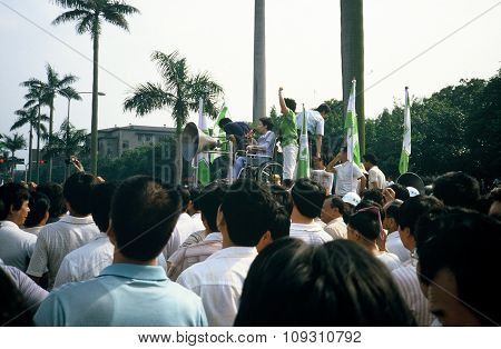 Speaker at a DPP Rally