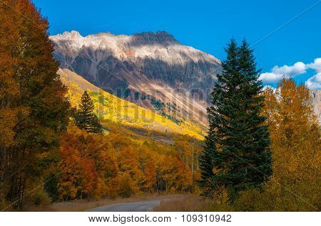 San Joaquin Ridge Fall Colors Colorado Autumn Landscape