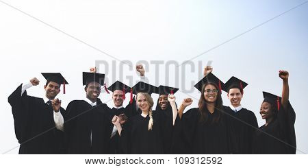 Students Graduation Success Achievement Concept