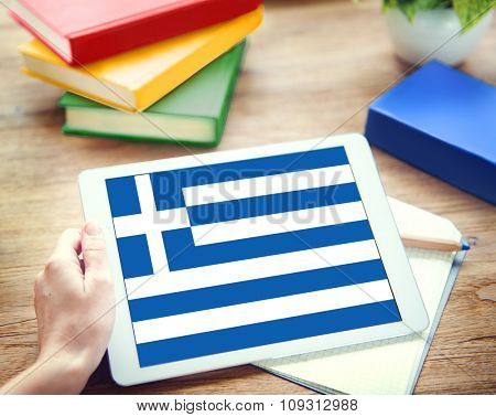 Greece National Flag Government Freedom LIberty Concept