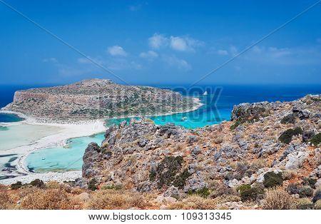 Balos Lagoon on the island of Crete