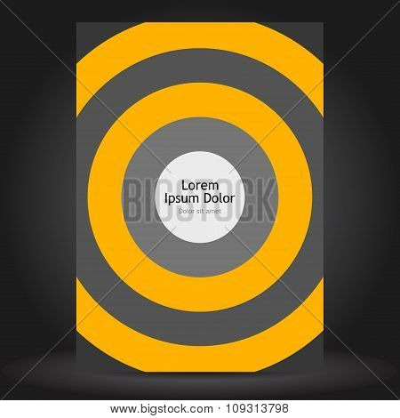 Orange Brochure Template Design With Round Elements