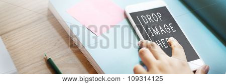 Mobile Phone Technology Advertising Commercial Copy Space Concept