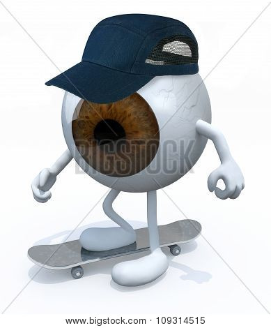 One-eye With Arms And Legs Skater