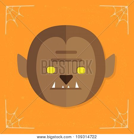 Werewolf Head icon vector