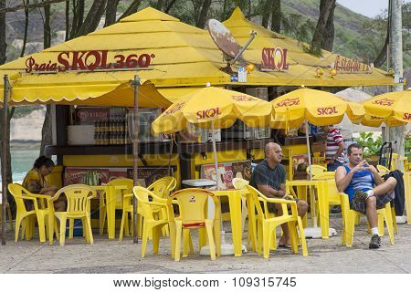 Skol Beach Bar In Rio