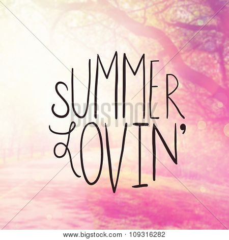 Inspirational Typographic Quote - Summer Loving