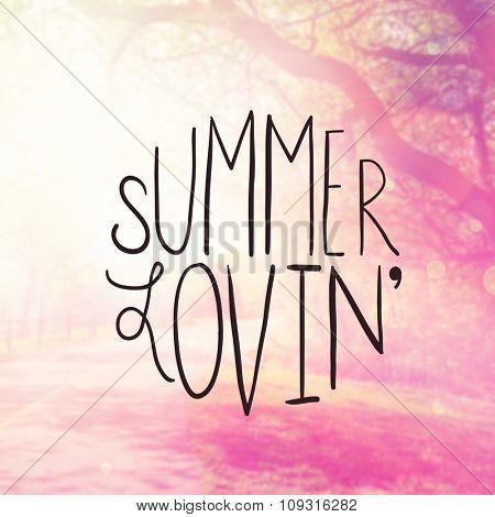 Inspirational Typographic Quote - Summer Loving