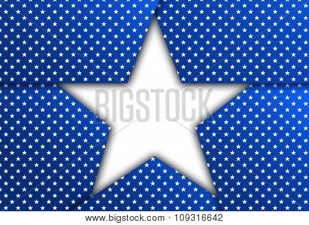 White Star On A Blue Background
