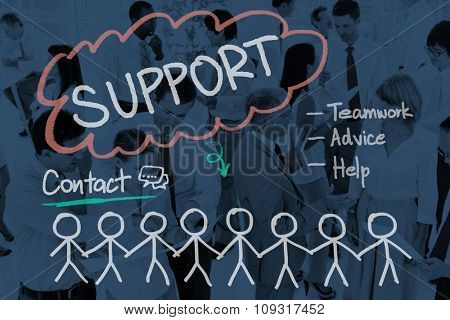 Support Contact Teamwork Advice Business Concept