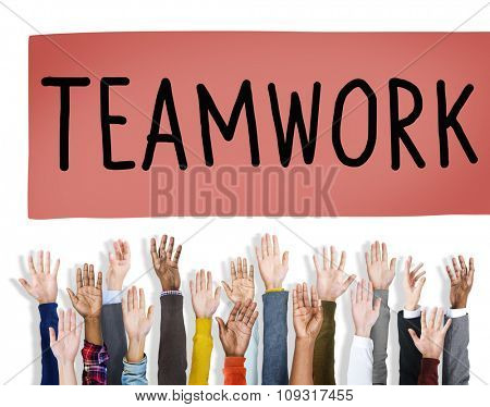 Teamwork Team Collaboration Togetherness Partnership Concept