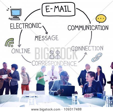 Email Data Content Internet Communication Messaging Concept