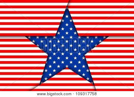 Image Blue Patriotic Star.
