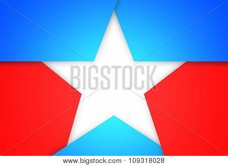 Image White Patriotic Star.