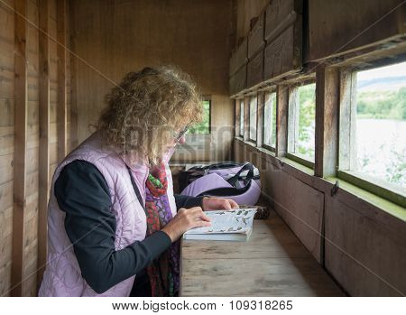 Female Bird Watcher