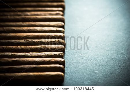 Cigars Background With Copy Space