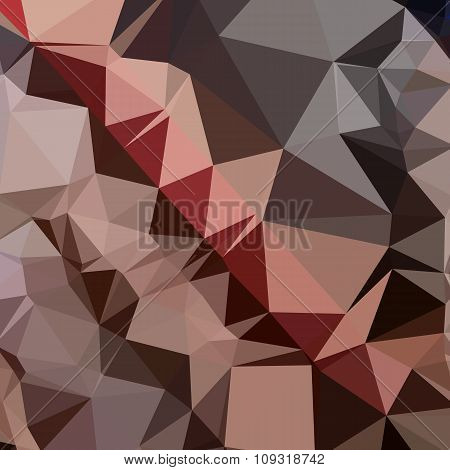 Bulgarian Rose Brown Abstract Low Polygon Background