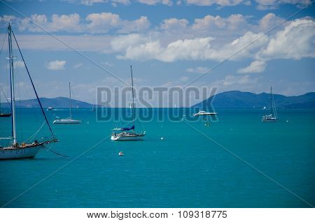 Sailboats near Airlie Beach
