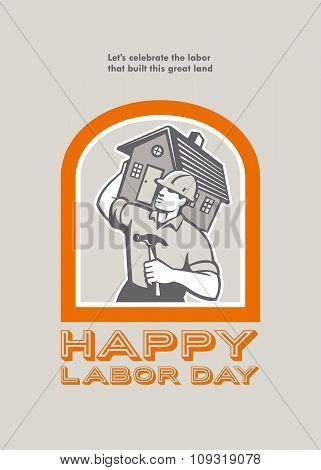 Labor Day Greeting Card Builder Construction  Hammer House