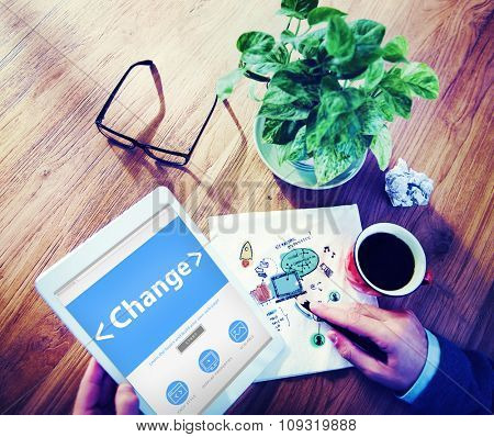 Business Change Creativity motivation Office Working Concept