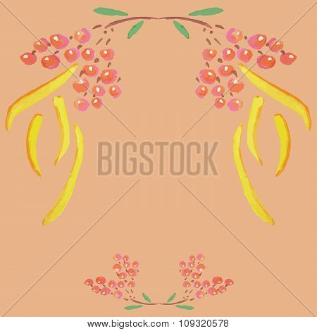Handpaint watercolor vector background.