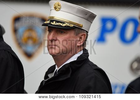 NYPD chief James Leonard