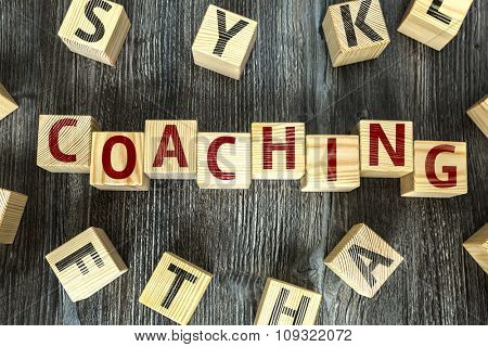Wooden Blocks with the text: Coaching