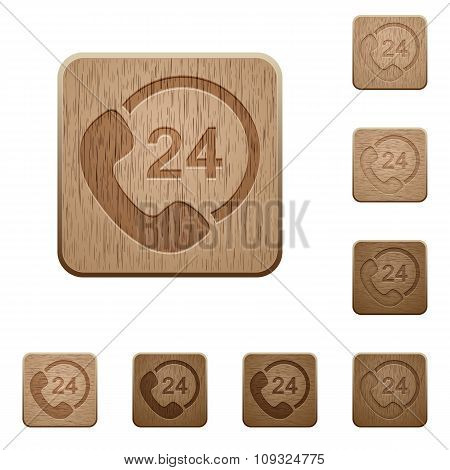 Full Day Service Wooden Buttons