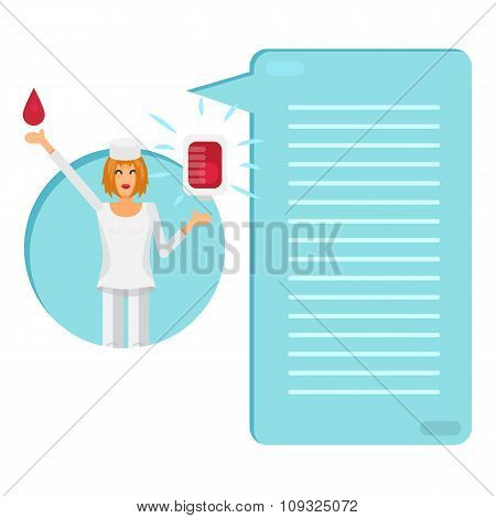 Nurse With Blood Bag