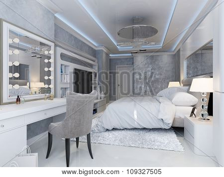 Modern Art Deco Style Bedroom