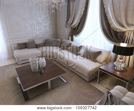 Living Room Art Deco Style