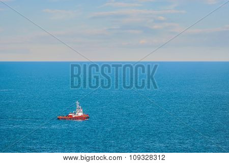 Tugboat In The Sea