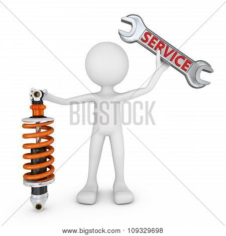 Man And Shock Absorber