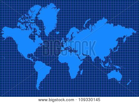 Blue Global Map
