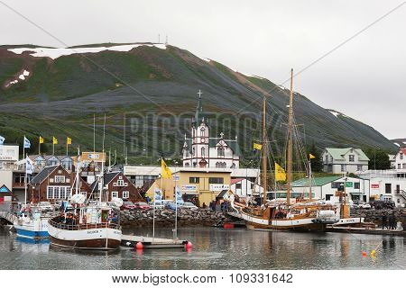 Town Husavik  - Center Of Whale Watching In Iceland