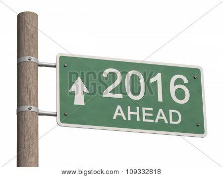 Happy New Year 2016. 3D Illustration