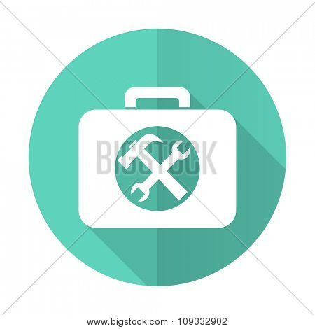 toolkit blue web flat design circle icon on white background