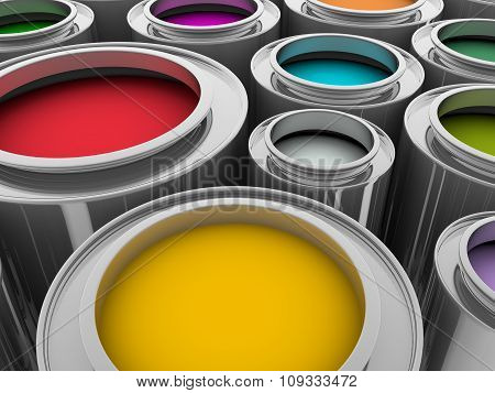 Metallic Paint Cans