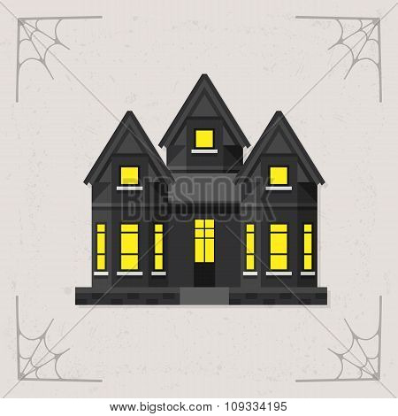 Scary House icon vector