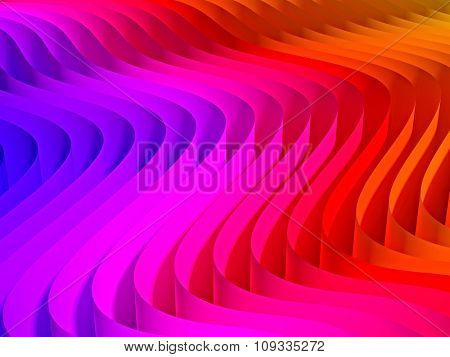 3d image of waved abstract background