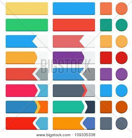 Set Of Flat Buttons