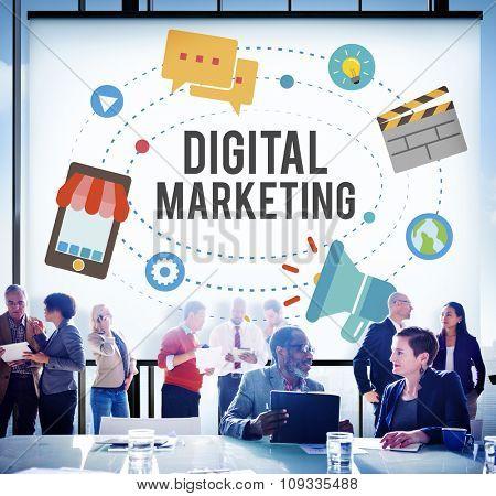 Digital Marketing Advertising Online Branding Commercial Internet Website Concept