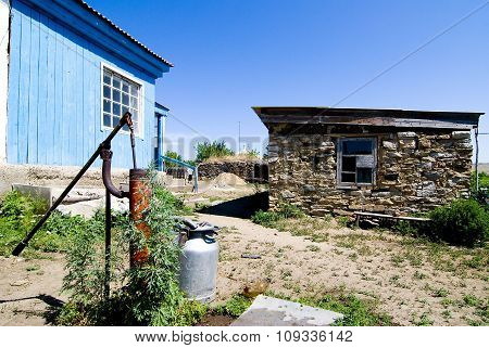 The village in Kazakhstan