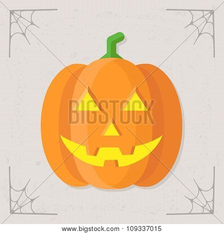 Glowing Pumpkin icon vector