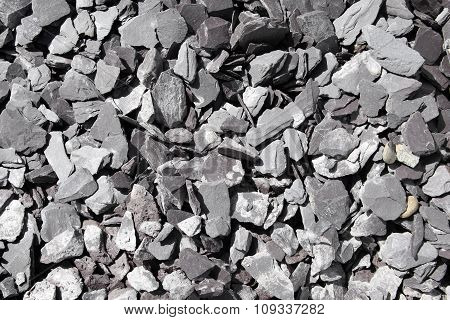 Background of slate stones chippings