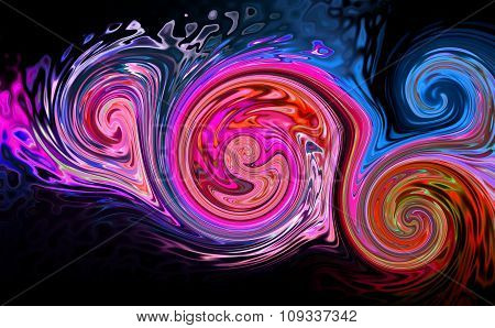 Abstract background with colorful creative stylized shapes