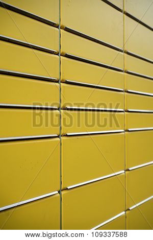 yellow lockers