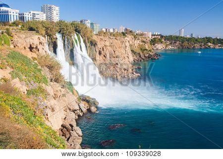 Waterfall Duden at Antalya, Turkey
