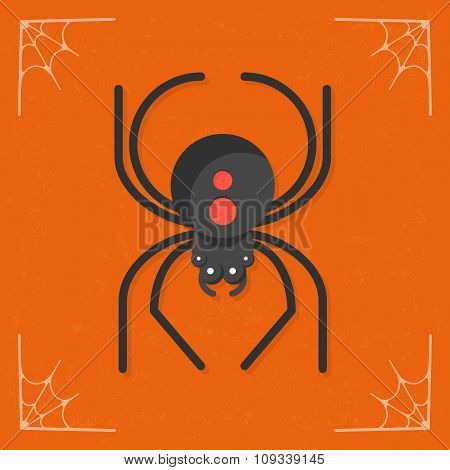 Spider icon vector
