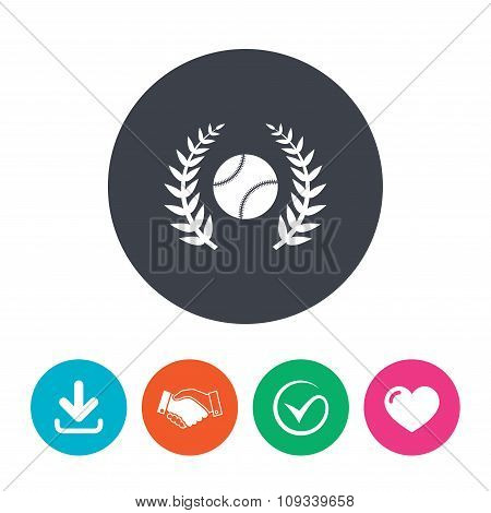 Baseball sign icon. Sport symbol.